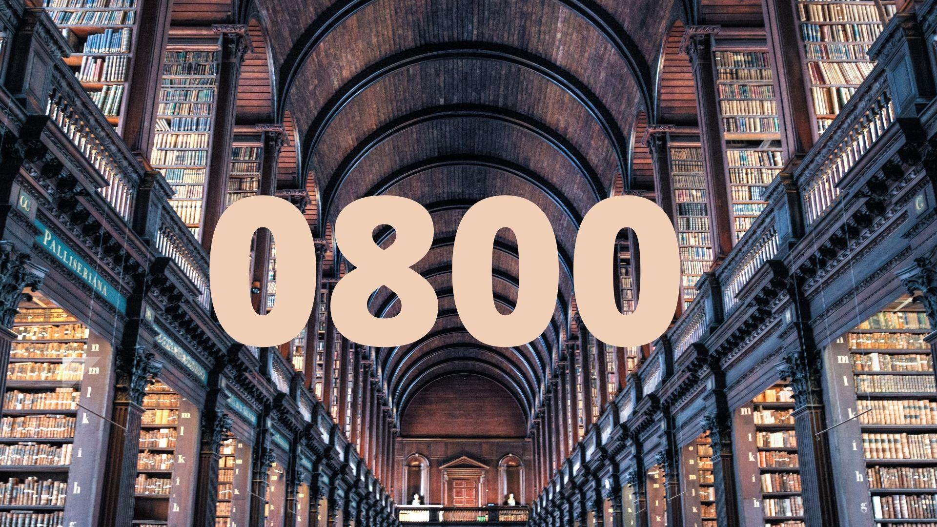 bibliothek über 0800